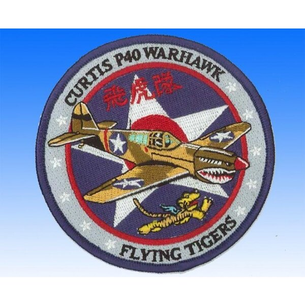 Patch Curtis P40 Warhawk Flying Tigers