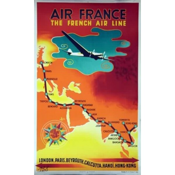Air France - The French Air Line - N.Gerale 1939