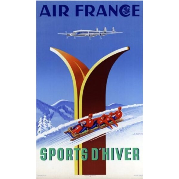 Air France - Winter Sports - A.Kow 1951