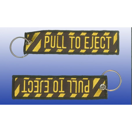 """Porte-clef """"Pull to Eject"""" 130*30mm"""