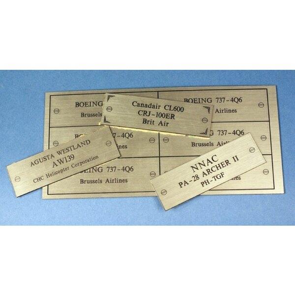 A- Plaque Gravée - Engraved Plate