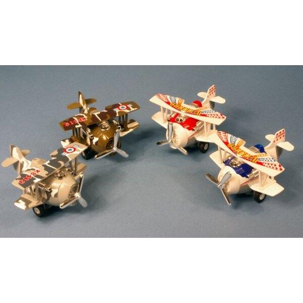 Retrofriction War Bird biplan metal pull back acti