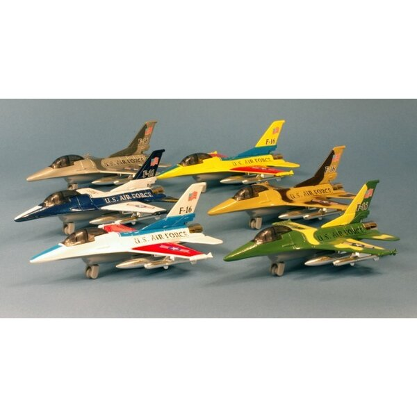 Pull back Tiger Fly F-16 metal pull-back actio