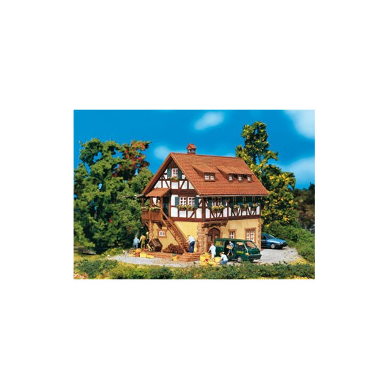 Faller 130266 Maison A Pans De Bois Decor H0 Le Plus Grand Choix Avec 1001hobbies Fr