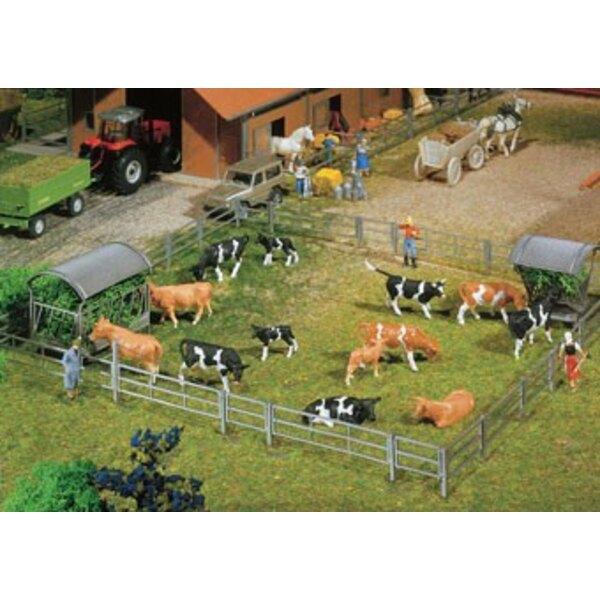 Systèmes de clôture pour stalles et ferme de stabulation libre, 2000 mm (2 x 1000 mm)