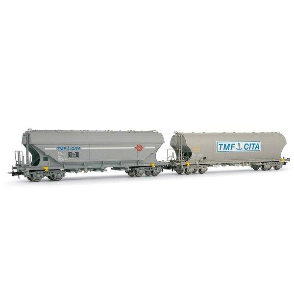 Box 2 hopper cars tmf cited SNCF