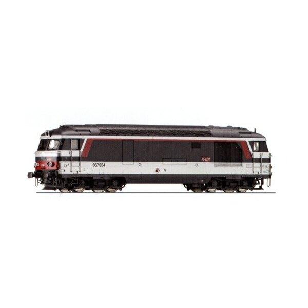 BB 67554 Diesel locomotive delivered multi-service - SNCF