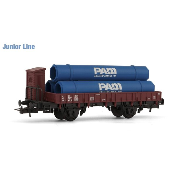 Wagon loaded flat edges pipe
