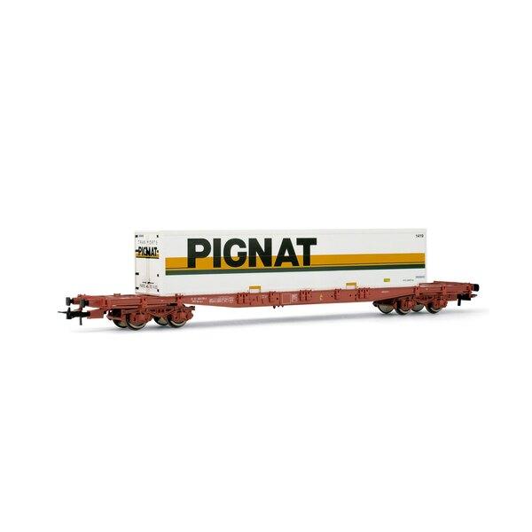 Flat car with container Pignat train-