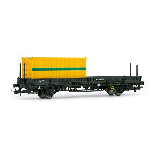 Flat Car with 1 container etf
