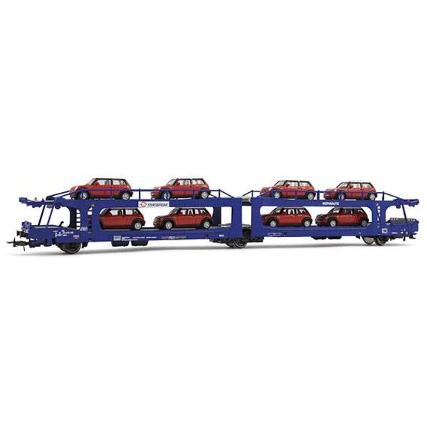 Wagon car with two levels Transfesa with 8 cars, sn