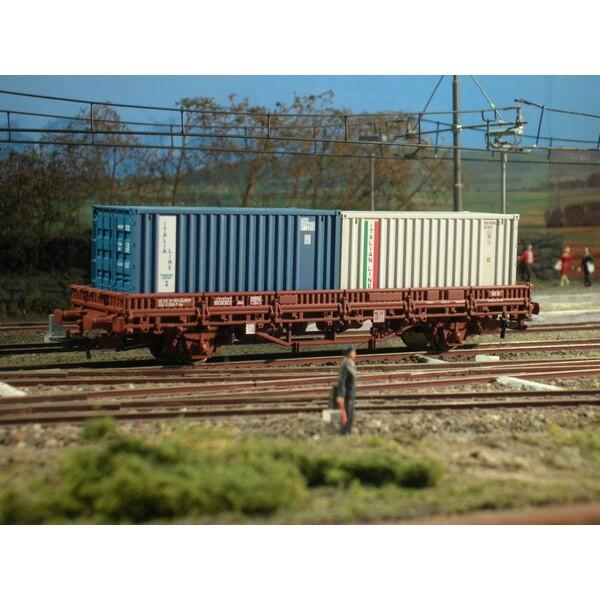 ㄸ flat wagon with 2 containers - FS