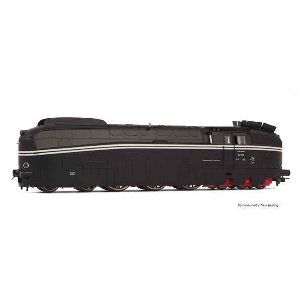 Locomotora de vapor DR 61 002 b, ep. IIIa, librea negro, la dc