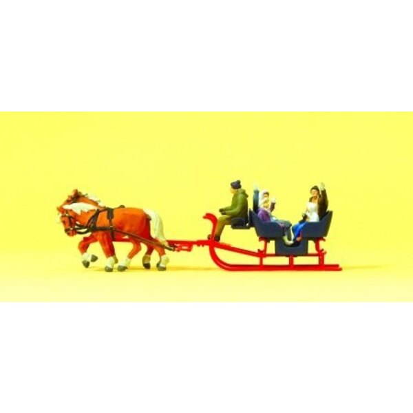 Sleigh pulled by two horses