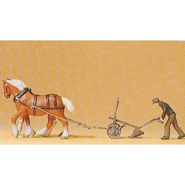 Farmer with plow horses 2