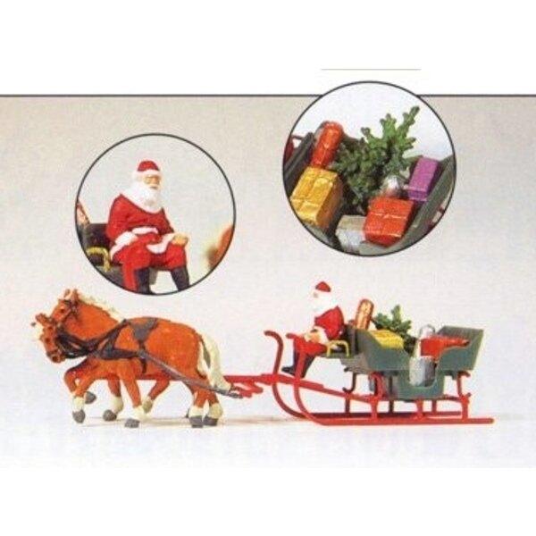 Father Christmas and his sleigh