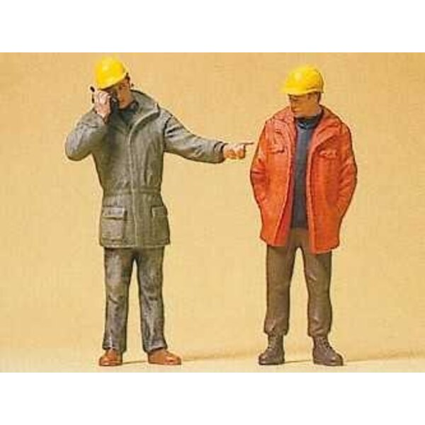Standing of factory workers