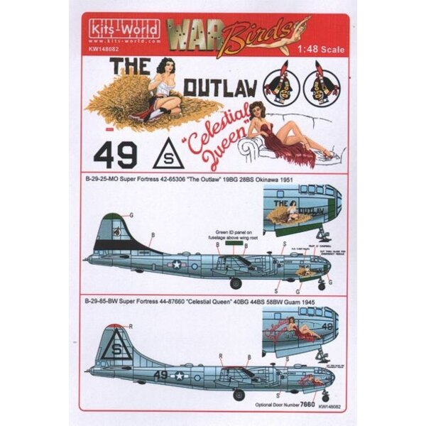 Boeing B-29A-25-MO Super Fortress 42-65306 'The Outlaw' 19BG 28BS Okinawa 1951
