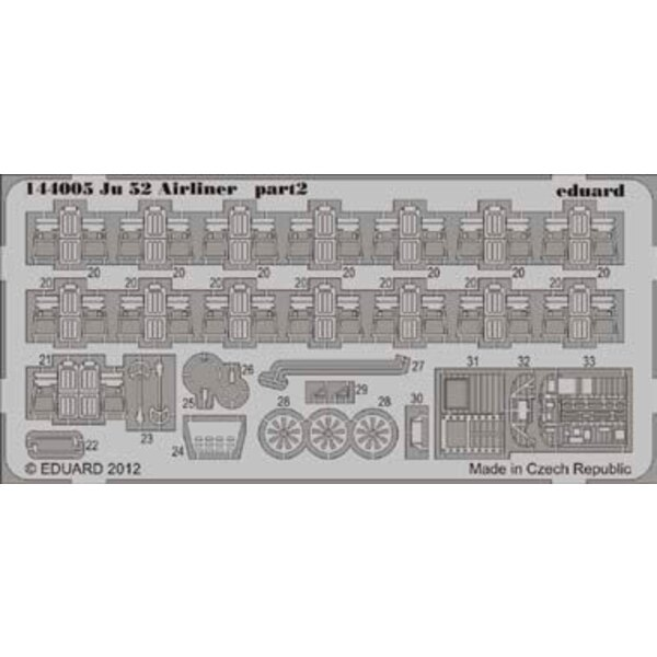 Junkers Ju 52 airliner 1/144 (designed to be used with Eduard kits)