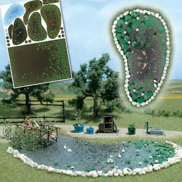 Set garden pond