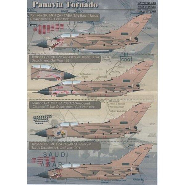 Décal Panavia Tornado GR.1 Gulf War Nose Art on Desert Pink aircraft. (11) ZD892/H 'Helen/Snoopy Airways'; ZA374/AF 'Angel Face'