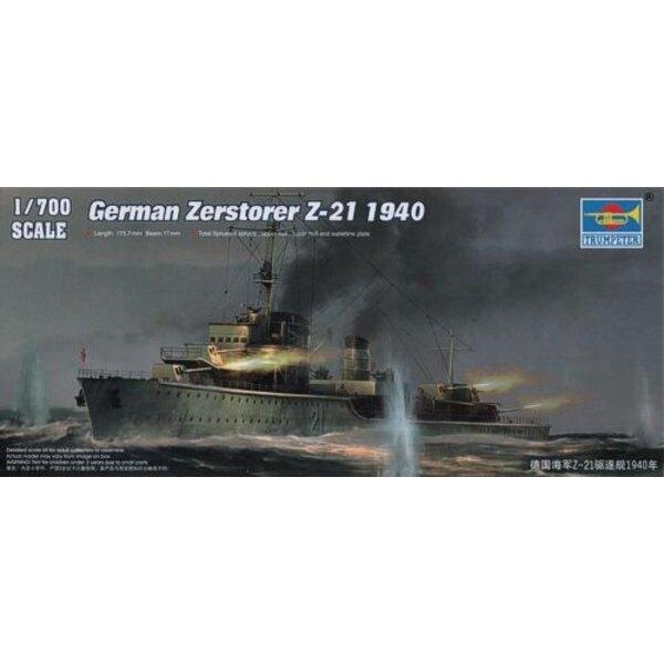 German Zerstorer Z-21 1940