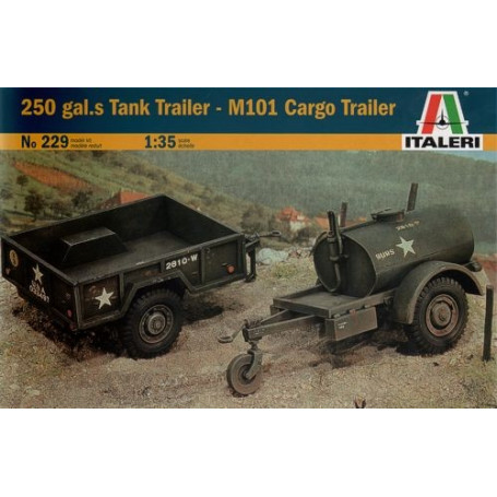 US 250 Gallon Tank Trailer & M101 Cargo Trailer