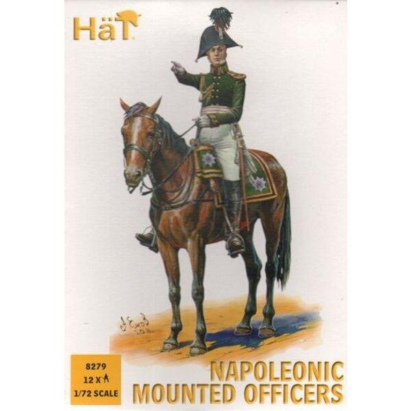 Mounted Command Napoleonic x 12 mounted figures
