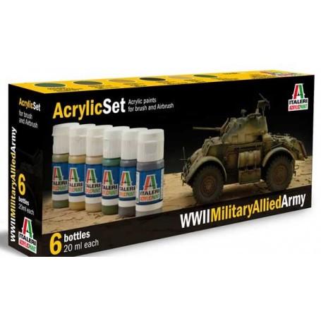 WWII allied tanks painting set Italeri I440AP