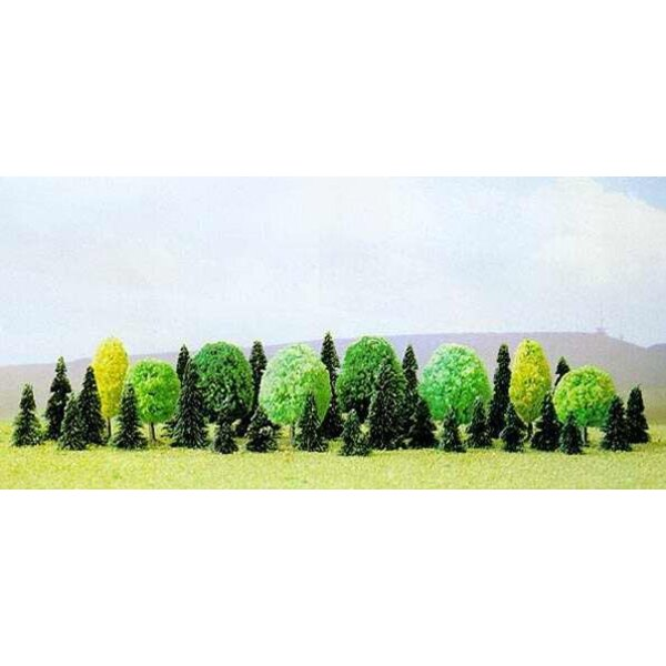 Pack of 35 assorted trees