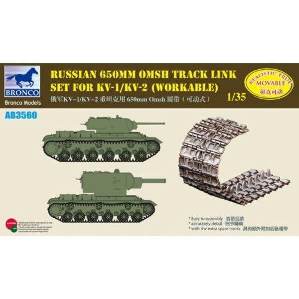 Russian 650mm OMSH Track Link Set for Russian KV-1/KV-2 (workable)