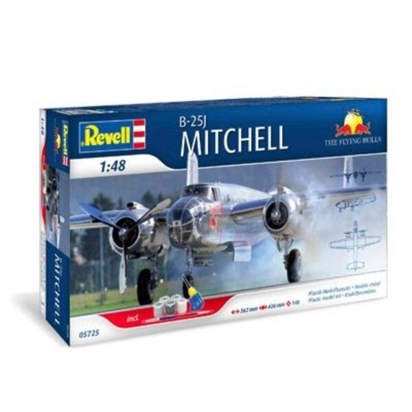 North-American B-25J Mitchell gift set (Includes paints, glue and brush)