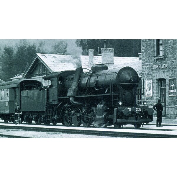 Steam Locomotive gr. 740 205 con tierna 3 ejes de sonido digital de FS