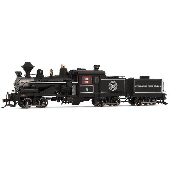 Locomotora de vapor Heisler, 3-camiones, Weyerhaeuser empresa maderera no.4