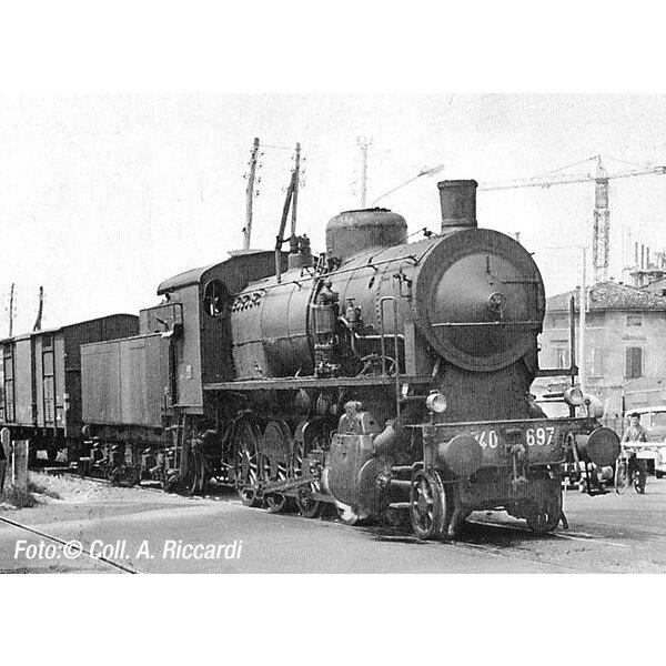 Steam gr locomotora. 740 Caprotti con bogie de licitación, linternas y pequeñas cowcatcher,