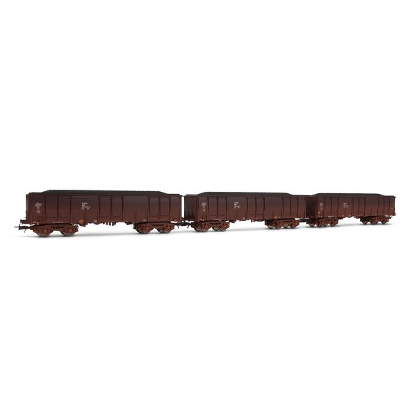 Set of 3 trucks eals with coal loading, DR
