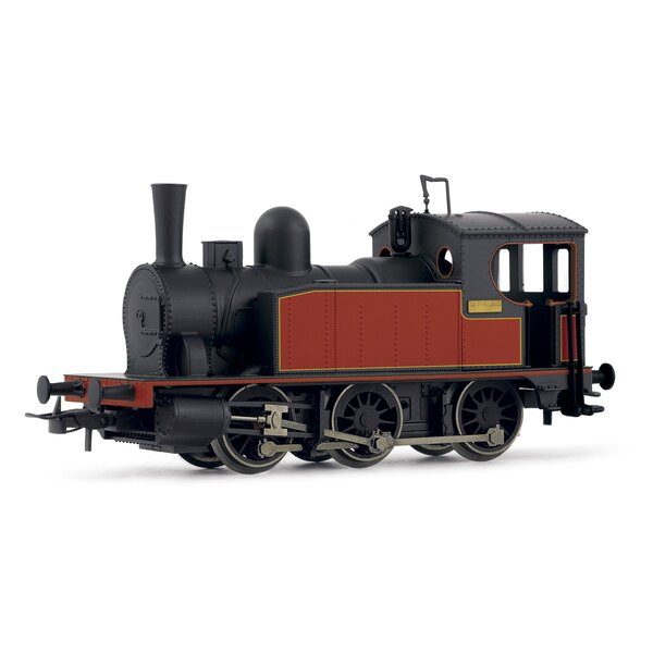 Steam Locomotive Black and Red 030