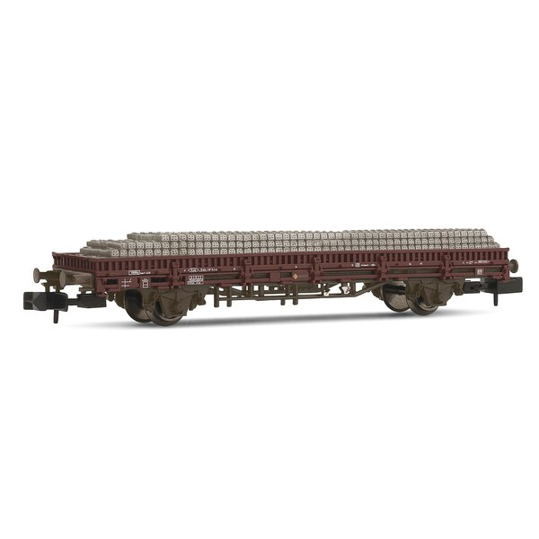 Flat car, Rlmms type ave loading concrete sleepers RENFE
