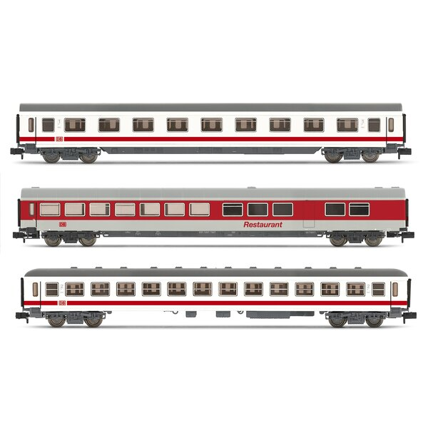 Set of 3 cars ic 1st class, 2nd class and restaurant DB