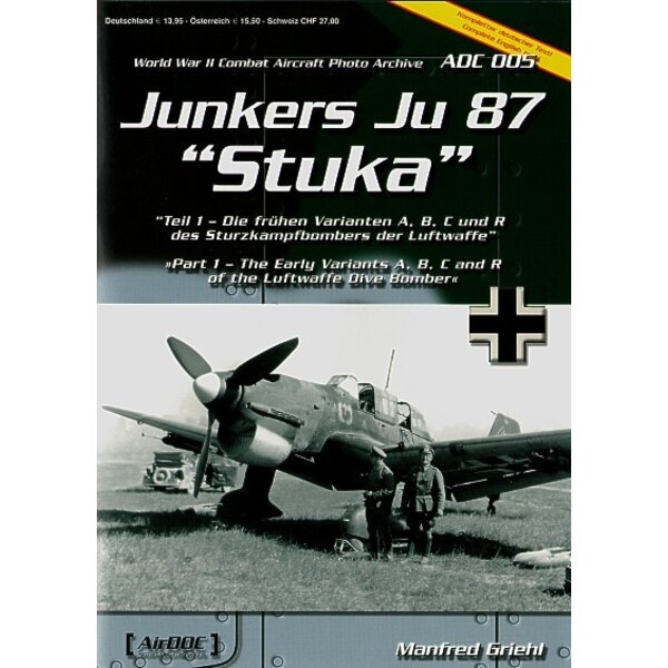Livre Junkers Ju 87 Part 1 Early versions A/B/C & R
