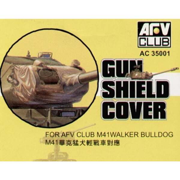 M41 Gun Shield Cover (designed to be assembled with model Kits from AFV Club)