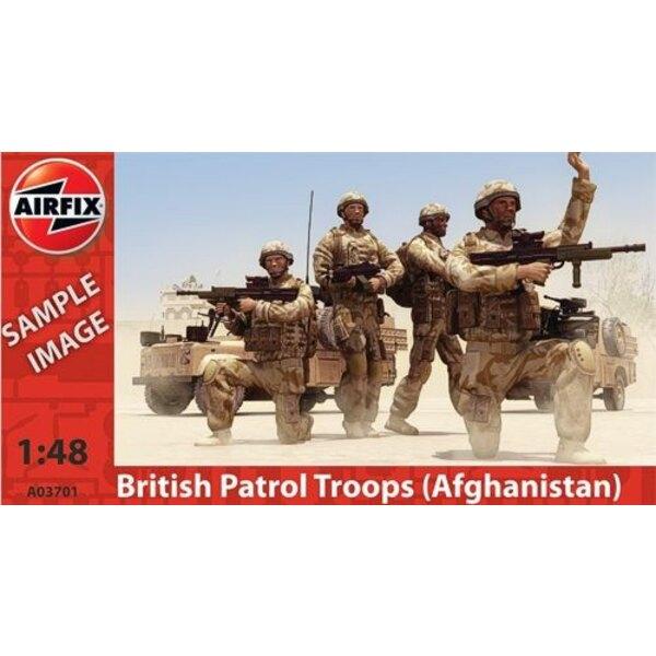Troupes britanniques en patrouille en Afghanistan