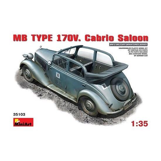 Mini art 35103 mercedes benz 170v open staff car for Mercedes benz staff