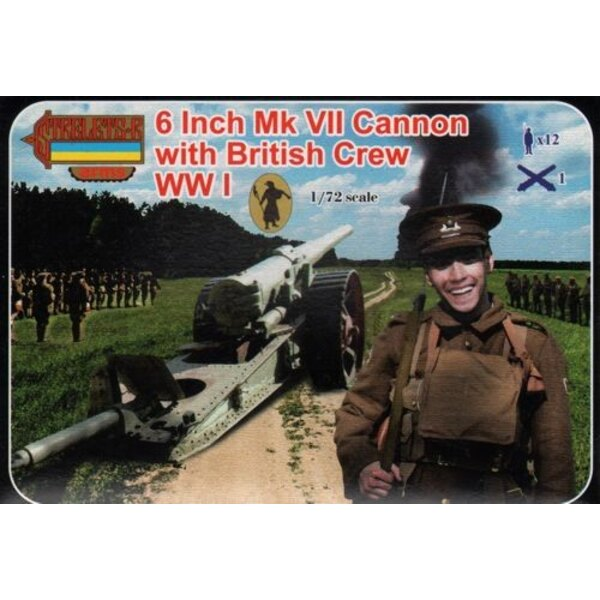 8 Inch Mk.VII canon avec Equipage anglais (WWI) Strelets Arms sets