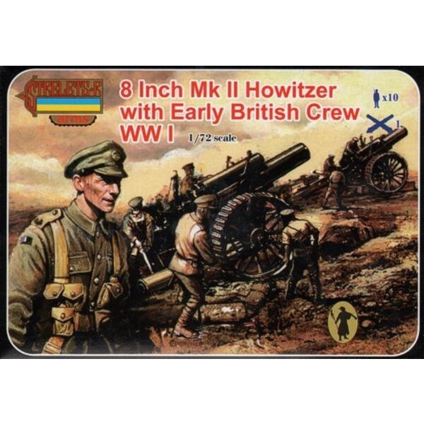 8 Inch Mk.II Howitzer avec Equipage anglais (WWI) Strelets Arms sets