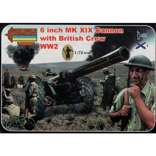 6 Inch Mk.XIX canon avec Equipage anglais (2ème GM) Strelets Arms sets