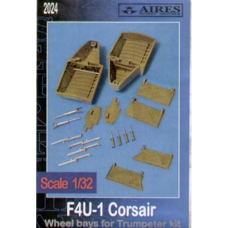 logement de roue de Vought F4U-1 Corsair (pour maquettes Trumpeter)