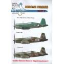 décal vought f4u-1 birdcage corsairs part three 1/48 - eagle cal g48152