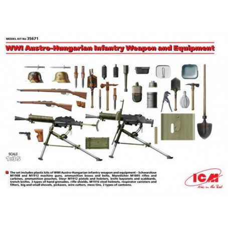 WWI Austro-Hungarian Infantry Weapon and Equipment 1/35 - ICM M35671