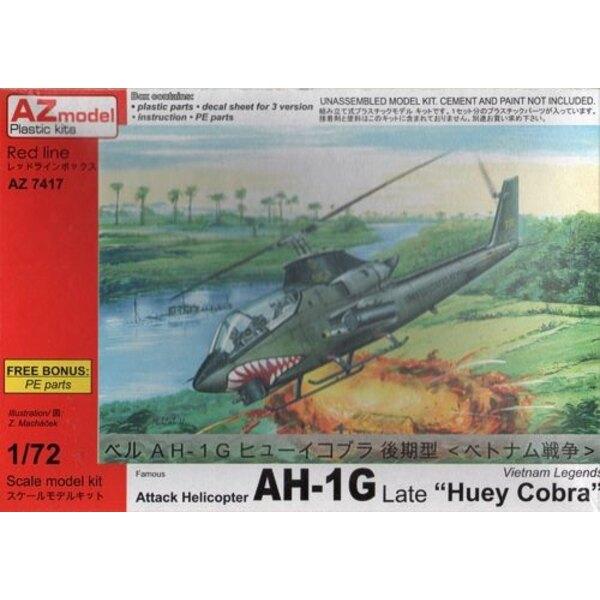Bell AH-1G Huey Cobra Late Vietnam War w / PE 1/72 - AZ Models M74017